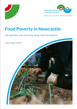 Food Poverty in Newcastle report cover image